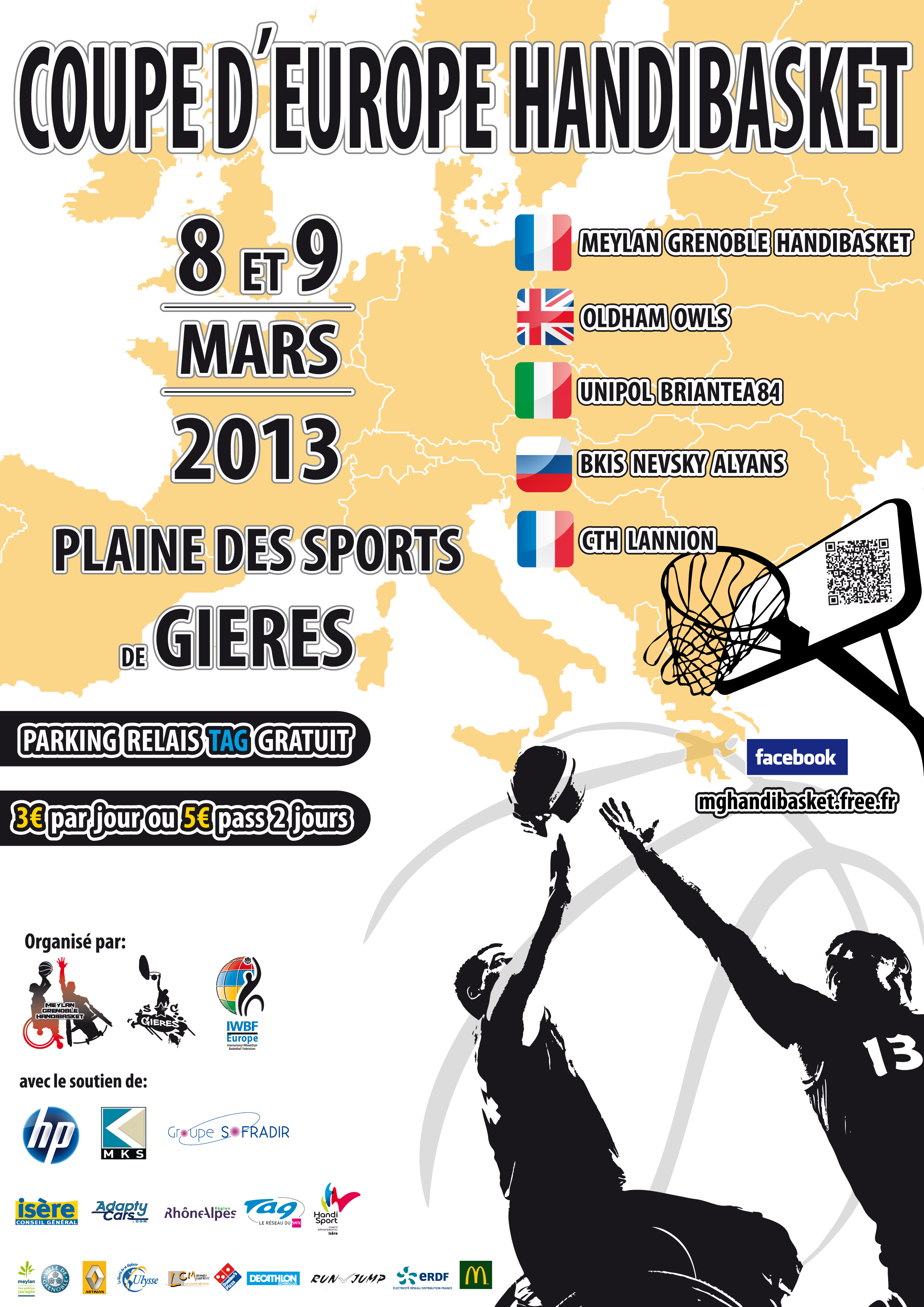 affiche de la rencontre handisport basket