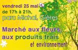 Marché aux fleurs, , aux produits frais et environnement