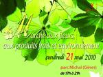 Marché aux fleurs, produits frais et environnement