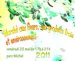 Marché aux fleurs, aux produits frais et environnement